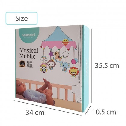 Holabebe Musical Mobile Toys For Baby Crib and Playpen - Safari