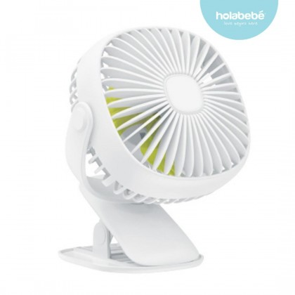 Rechargeable Baby Clip Fan with Lamp Stroller Carseat Kipas Bayi
