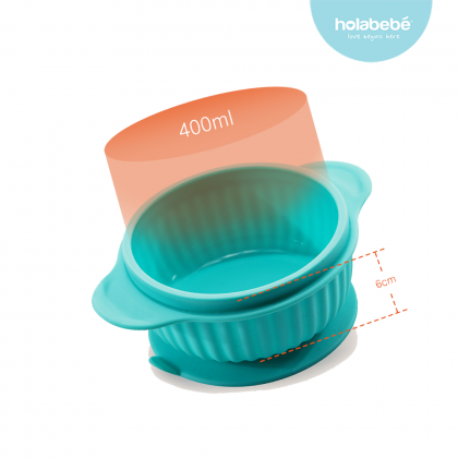Silicon Suction Bowl with Lid