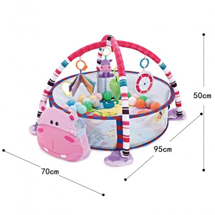(FREE 30pcs) Baby Playgym  Ball Pit Activity Mat Removable Toys Bars & Walls Infant Marine Ball Pool