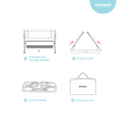 Multifunction Foldable Baby Cot